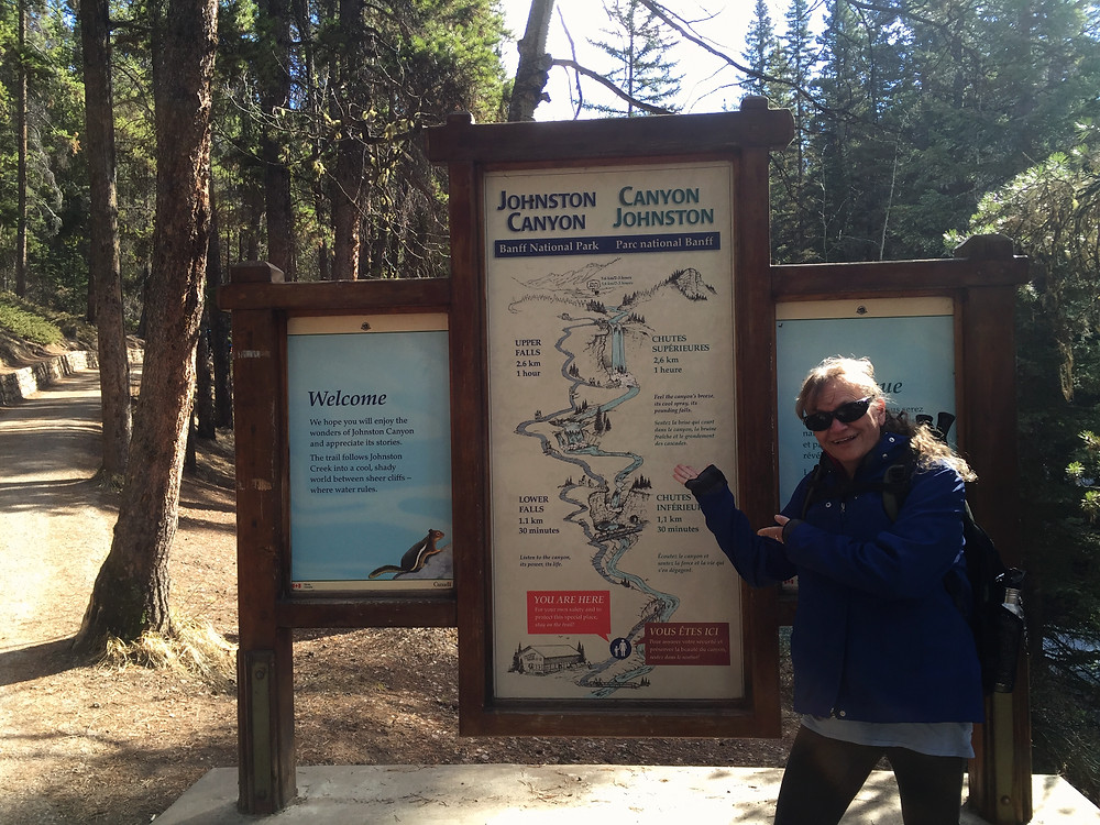 Mom posing at the trailhead