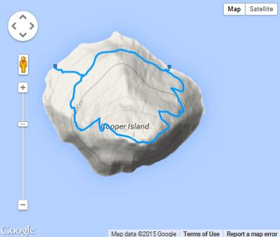 Copper Island Trail Map