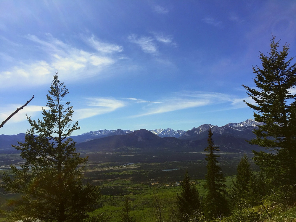 View of Bow Valley below
