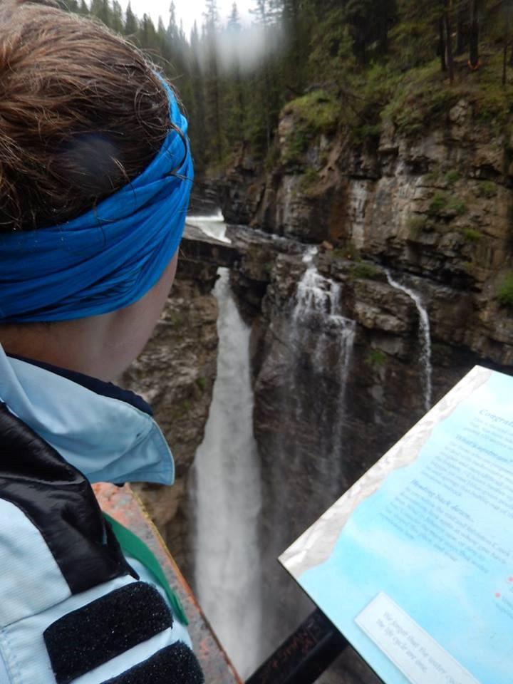 Kim looking at the Upper Falls