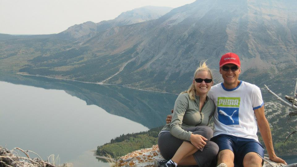 Matt and I with Waterton Lakes in the background