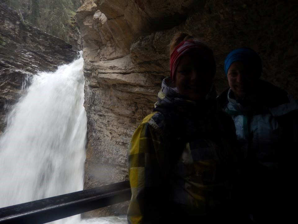Getting a closer look at the Lower Falls
