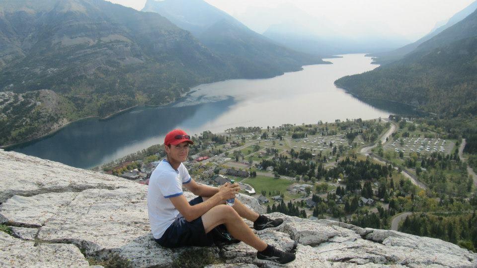 Matt sitting on Bear Hump
