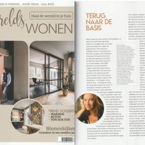 """Column interieur magazine """"Werelds Wonen"""""""