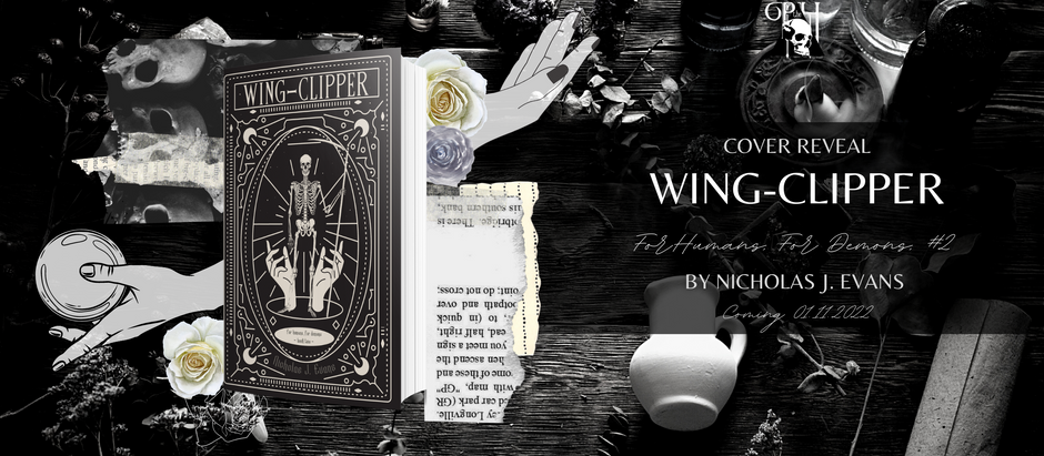 HAPPY COVER REVEAL: Wing-Clipper (For Humans, For Demos, #2) by Nicholas J. Evans