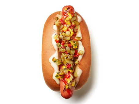 Grilled Hot Dogs with Homemade Pickle Relish