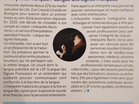 Zoé Crescoli - Interprète Recto Verso - Gazette d'Orgères