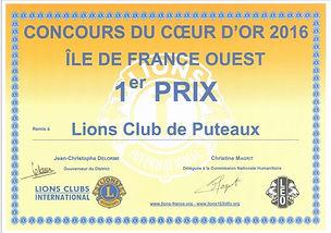 Lions sos coeur d'or 2016