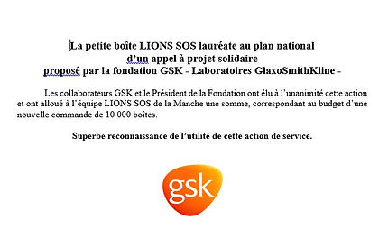 lions sos laureat fondation gsk
