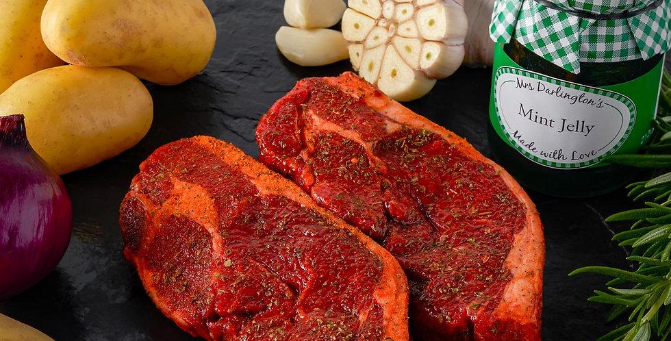 Minted Boneless Lamb Rump Steaks 1kg 6-8 steaks