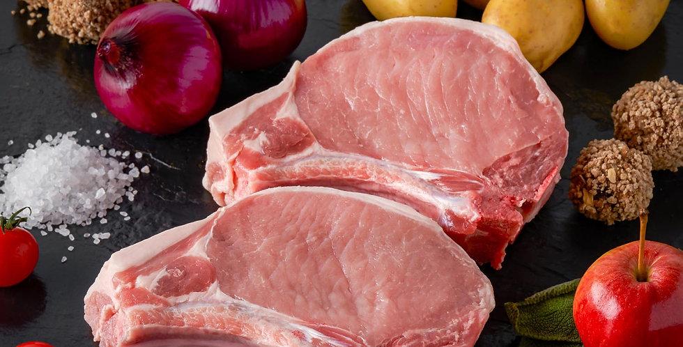 Fresh Pork Chops Bone In X 2 Thick cut