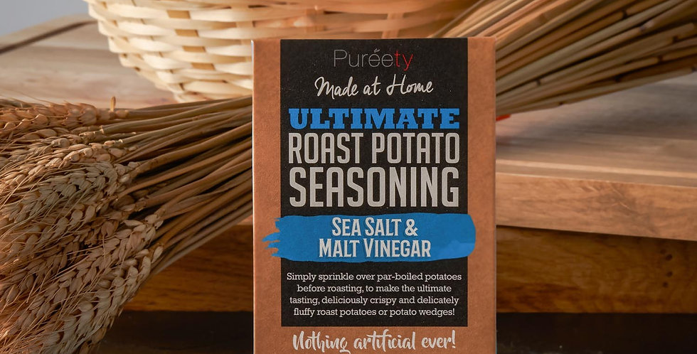 Pureety Ultimate Roast Potato Seasoning Sea Salt and Malt Vinegar