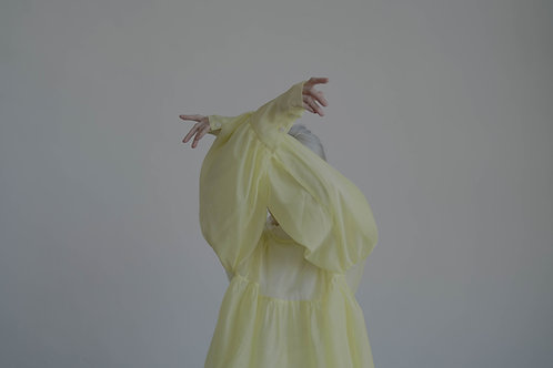 limited  see through top - light yellow