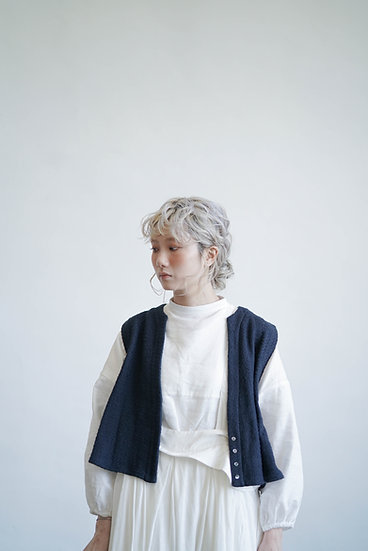 limited edition woven vest - Blue (must buy !!!!)