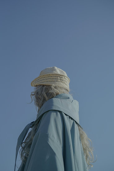 trench coat cap - sky blue(must buy item !!!!!)