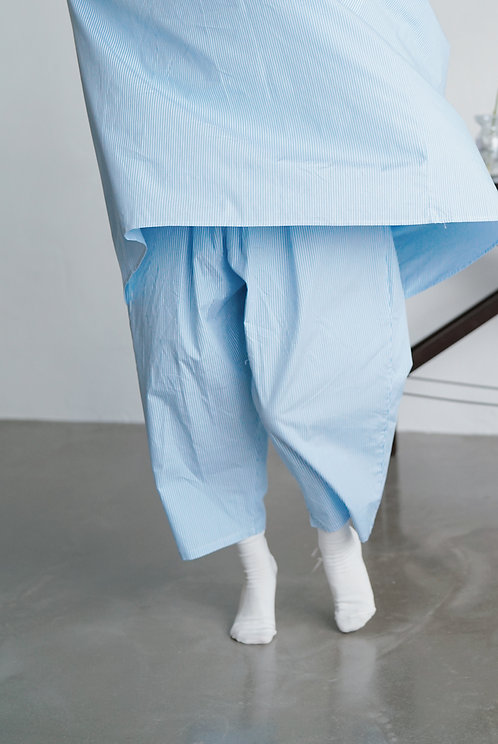 limited col Bella taper pants - stripe blue