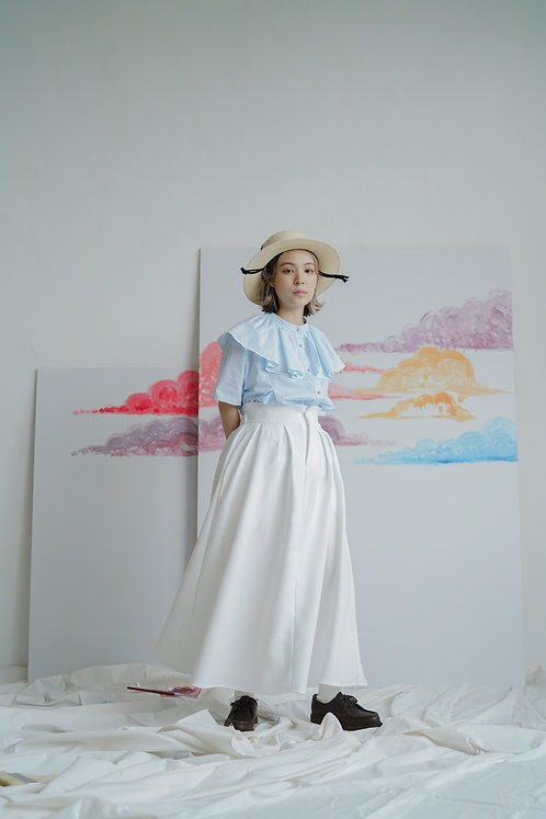 haha wedding skirt - white