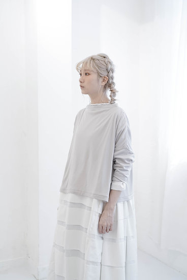 two way yearly cotton knitwear - grey