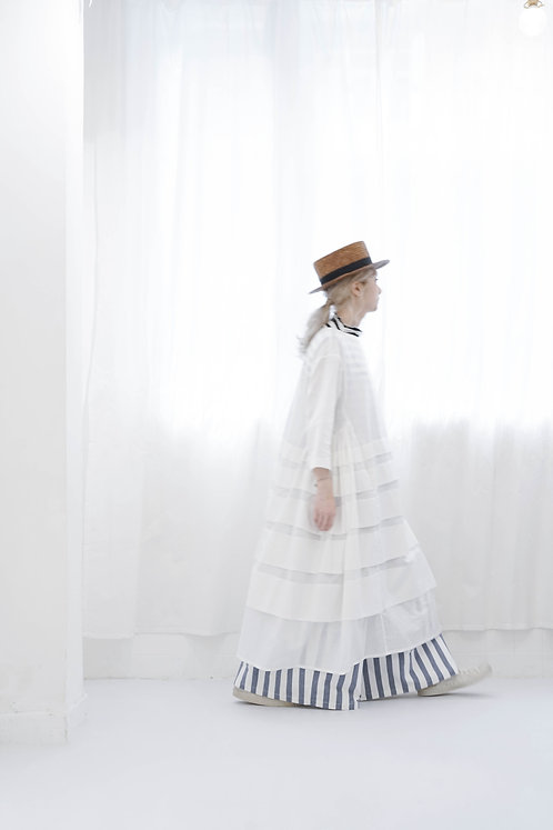 limited' see through beautiful dress - checkered white