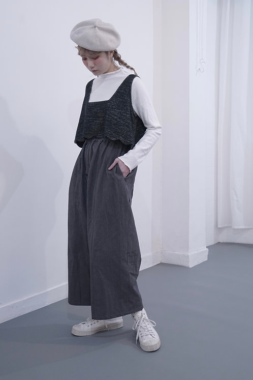 limited col fixable pants -dark gray
