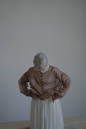 limited see through coat - brown