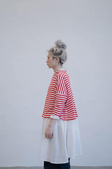 two way yearly cotton knitwear - stripe red (must need!!!!!)