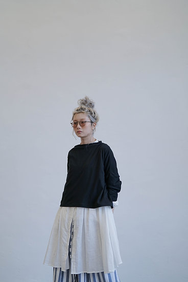 two way yearly cotton knitwear - black (must buy !!!!!)