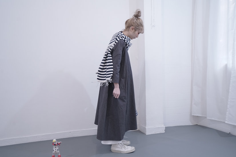 limited item wonder dress - dark gray