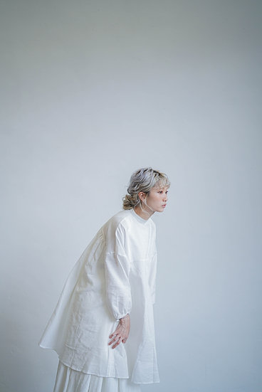 limited edition  3 ways long  shirt - woven white