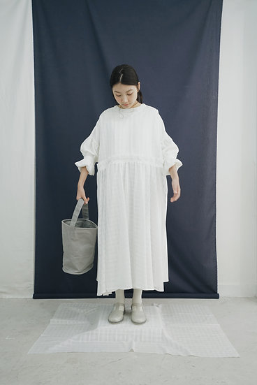 July' see through dress - white checkered