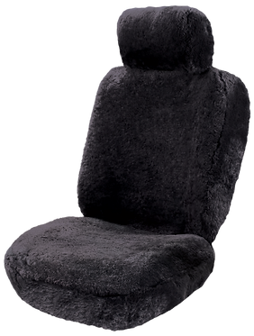 SHEEPSKIN BLACK SEAT COVERS (PAIR)