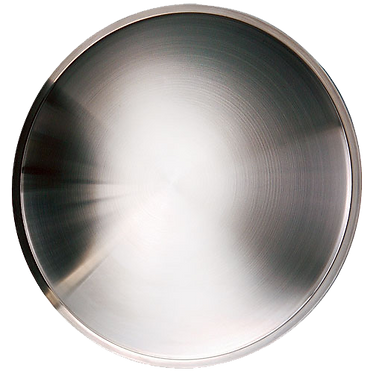 STAINLESS STEEL POLISHED WHEEL COVER MOONDISC - 14""