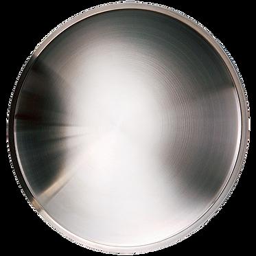 "STAINLESS STEEL POLISHEDWHEEL COVER MOONDISC - 13"""