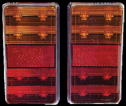 RECTANGLE LEDTRAILER LAMPSET 12V