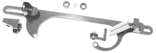 SILVER THROTTLE CABLE  BRACKET AND LINKAGE
