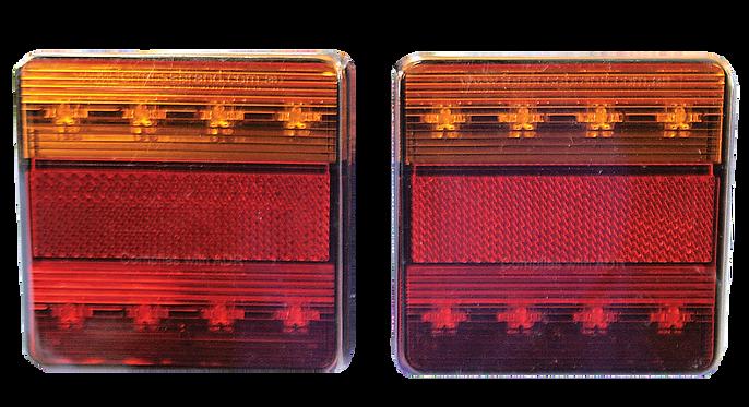 SQUARE LEDTRAILER LAMPSET 12V