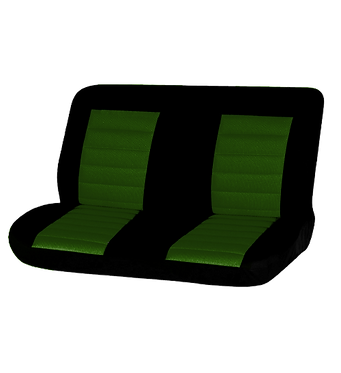 08 CARBON REAR SEAT COVER - GREEN