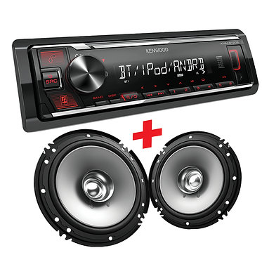 """BLUETOOTH MEDIA-RECEIVER + 6"""" SOUND STAGE SERIES DUAL CONE SPEAKERS"""