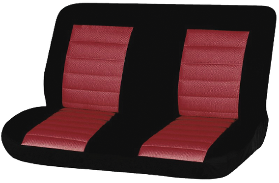 08 CARBON REAR SEAT COVER - RED