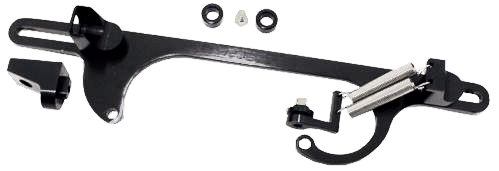 BLACK THROTTLE CABLE  BRACKET AND LINKAGE