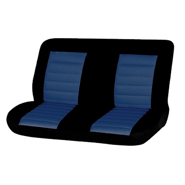 08 CARBON REAR SEAT COVER - BLUE