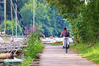 Photo Erdre - L'Erdre à vélo - Nantes