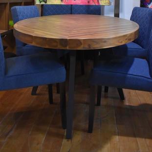 Blauwe stoelen stof