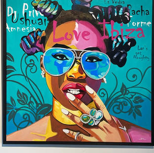 Pop art, Acrylverf