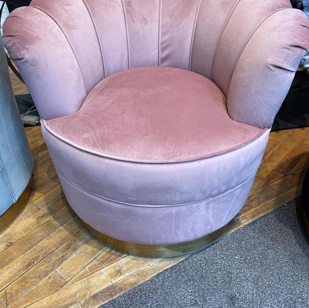 Fauteuil verkrijgbaar in blauwe/roze/grijs
