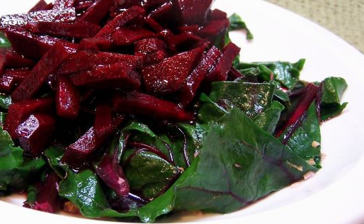 Balsamic Beets and Greens