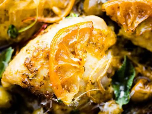 Lemon Sage Chicken w/ Olives