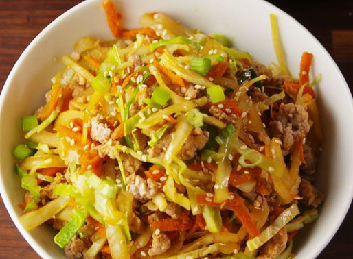 Egg Roll Bowls W/ Cabbage