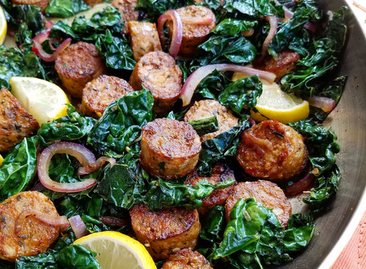 Lemon Pepper Sausage & Kale Stir-Fry