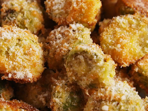 Parmesan Crusted Brussel Sprouts